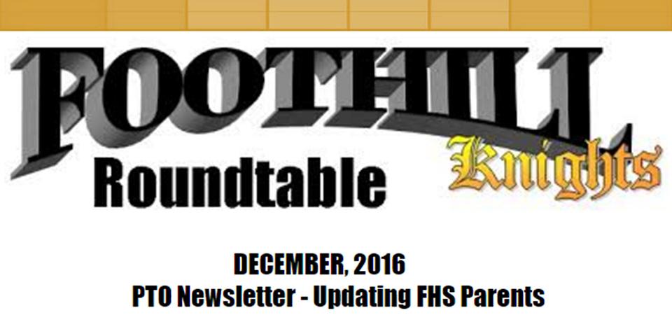 PTO Newsletter: December 2016