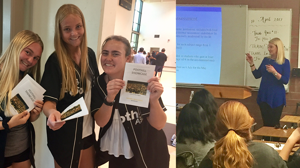 Foothill High School hosted a Showcase for our new incoming freshmen next fall.  Individual presentations were made for programs such as IB, AVID, FEAT, Academic Planning, and athletics.  Departments showcased their departments with information discussions, demonstrations,  and exhibits of student work.