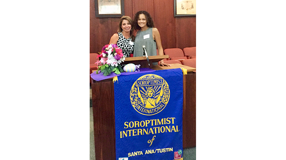 Quinn Greene was selected to be Soroptimist Young Woman of the Month and was honored at a luncheon.