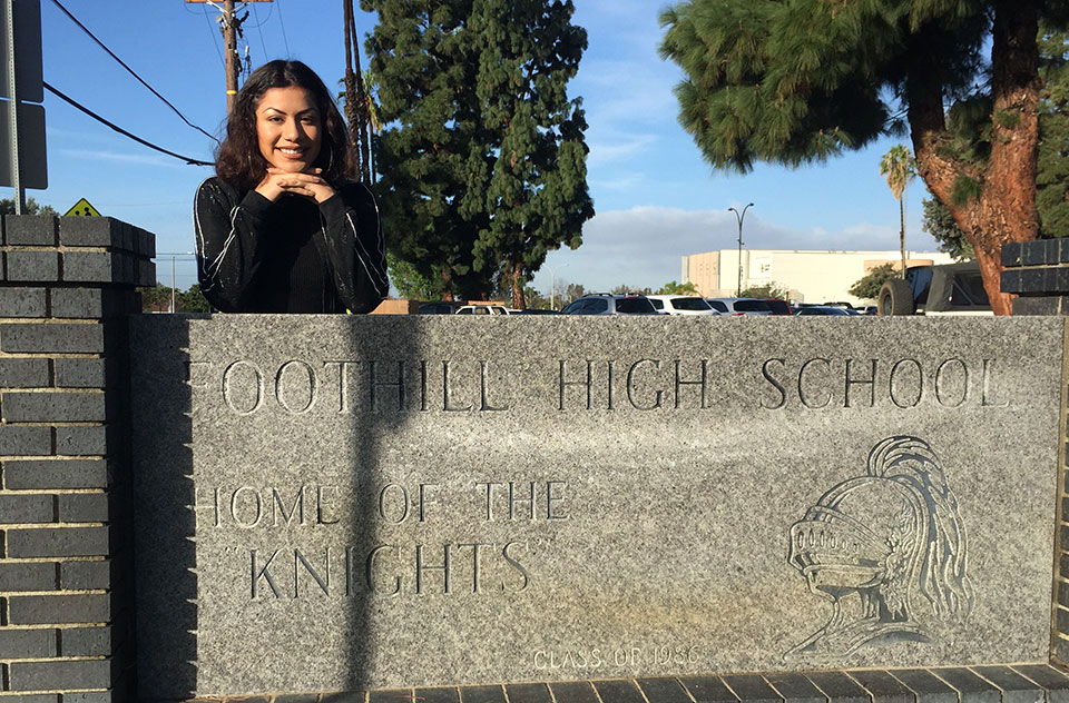 Lorena Cruz – winner of Every Student Succeeding for Foothill High School