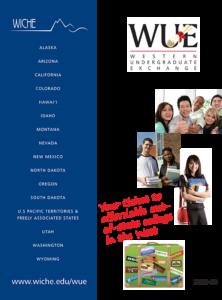 Western Undergraduate Exchange 2018-19 brochure