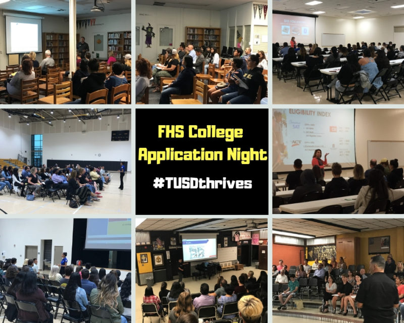 FHS College Application Night collage