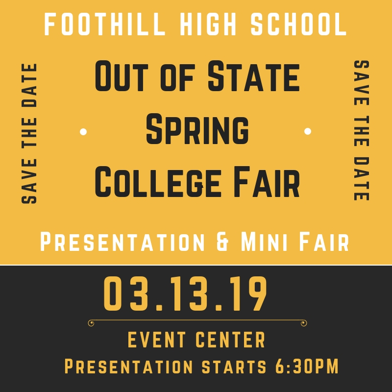 Out of State Spring College Fair 03.03.19