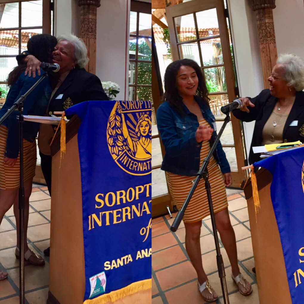 Veranya Diaz was honored for being Soroptimist Young Woman of Achievement for April.