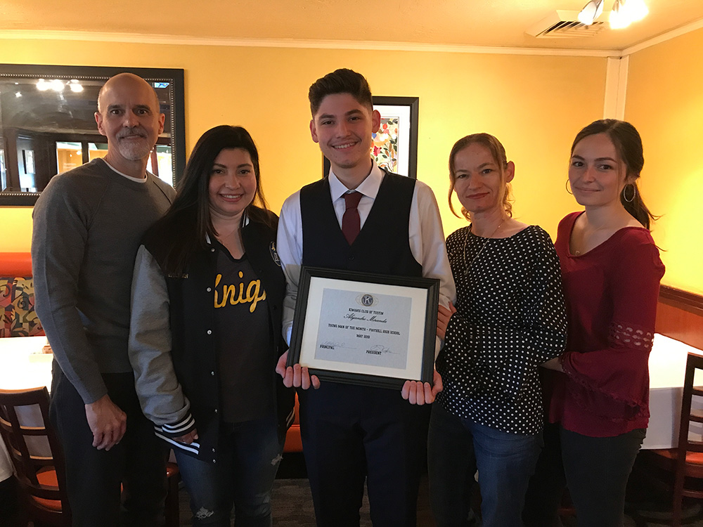 Alejandro Miranda | Kiwanis Young Man of the Month for May